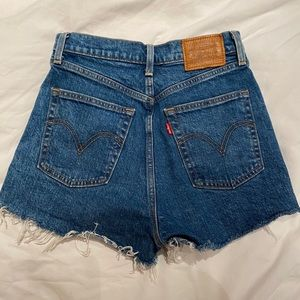 Rib Cage High Rise Denim Levi's Shorts